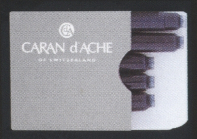 CARAN D`ACHE - 6 CARTOUCHES D`ENCRE MINI INTERNATIONALE